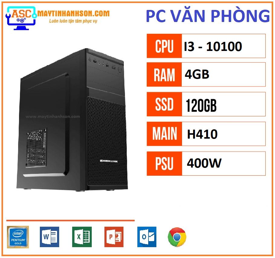máy tính văn phòng h410 i3-10100